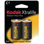 Kodak Xtralife Alkaline Battery C 2 Pack Wholesale Bulk