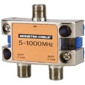 Monster Cable - Monster Standard RF Splitter for CATV Signals Wholesale Bulk