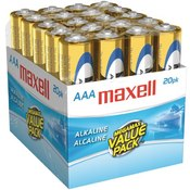 Maxell - Alkaline Batteries (AAA; 20 pack; Brick) Wholesale Bulk