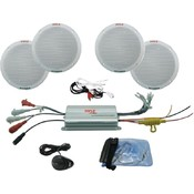 6.5' 4-Channel Waterproof Mp3/Ipod Amplified Marine Speaker System Wholesale Bulk
