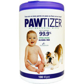 Pawtizer Antibacterial Pet Wipes 100 Count Wholesale Bulk