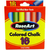 RoseArt Colored Chalk 16 Count Wholesale Bulk