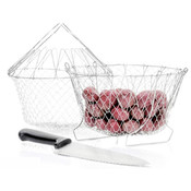As Seen On TV 2 Piece Deluxe Chef Basket And Knife