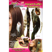 As Seen On TV 3 Pack Snap-On Feathers Extensions