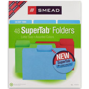 Smead 48 Count 1/3 Cut SuperTab Letter Size Folder Wholesale Bulk