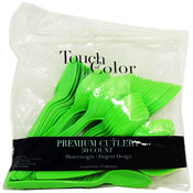 Touch Of Color 50 Piece Citrus Green Heavyweight Spoons Wholesale Bulk