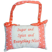 Sugar & Spice & Everything Nice Hanging Deco Pillow