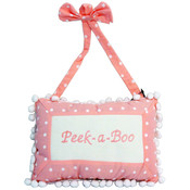 Peek-A-Boo Hanging Decorative Pink Pillow