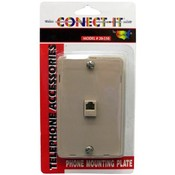 Conect-It Ivory Phone Mounting Plate Wholesale Bulk