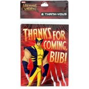 Marvel Wolverine & The X-Men 8 Ct Thank You Cards