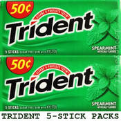 Trident 5 Piece Sugar Free Spearmint Gum
