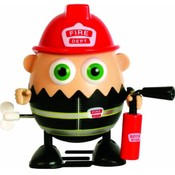 Eggbods Fireman Scramble Wind Up Toy Wholesale Bulk