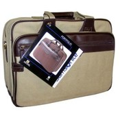 Samsonite Tan Canvas Portfolio Laptop Case