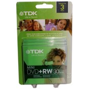 TDK 3 Pack Mini DVD+RW 30 Minute 1.4GB Discs