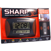 Sharp Atomic Weather Station With Wood Accent