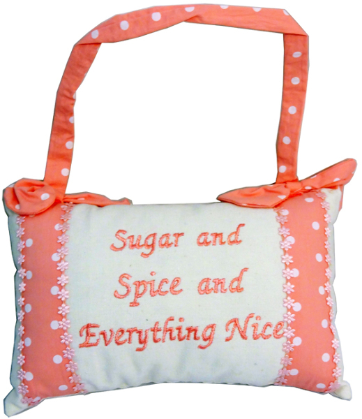 Sugar & Spice & Everything Nice Hanging Deco PILLOW [1228624]