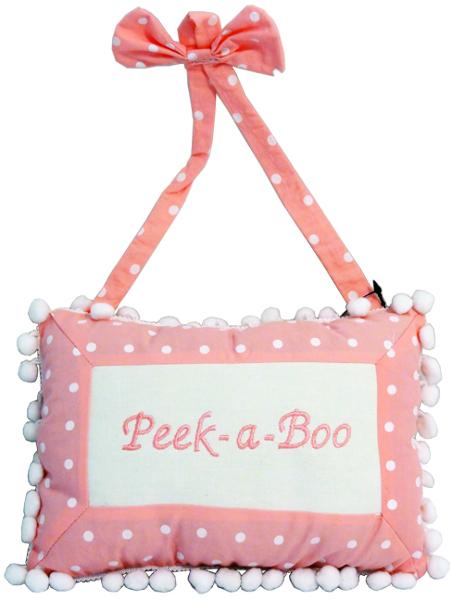 Peek-A-Boo Hanging Decorative Pink PILLOW [1226857]