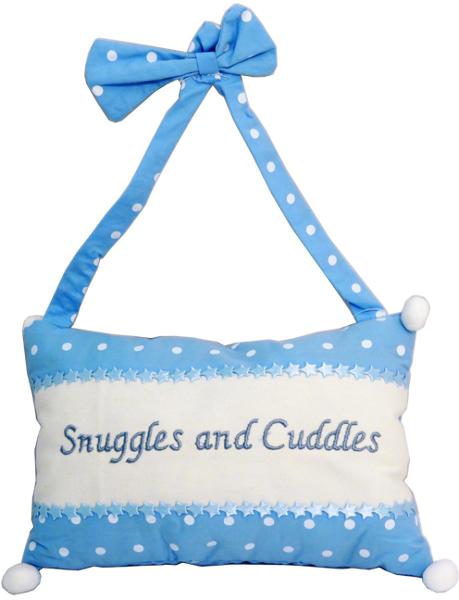 Snuggles & Cuddles Hanging Decorative Blue PILLOW [1228625]