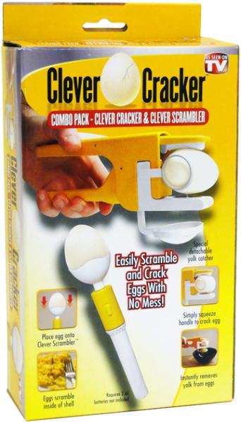 As Seen On TV Clever Egg Cracker & Scrambler [1472206]