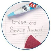 Dr. Seuss Sharp 'N Sweep Eraser Wholesale Bulk