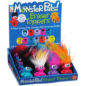 Geddes Monster Pals Eraser & Pencil Topper Wholesale Bulk