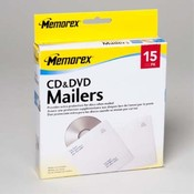 MEMOREX CD AND DVD MAILERS 15PK