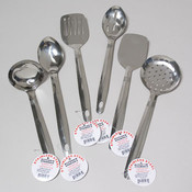 STAINLESS STEEL UTENSILS 6 ASST