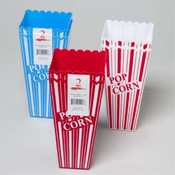 POPCORN HOLDER 2PK 2 COLORS