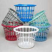 LAUNDRY BASKET 17IN ROUND X 12H