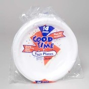 10 Inch Foam Plate 14 Pack Wholesale Bulk