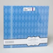 Blue Diamond Ribbon Scrapbook Album 12x12 Wholesale Bulk