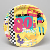 9 INCH PLATE 8 CT 80&#39;S DECADE