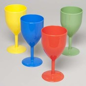 Bright Colored Plastic Wine Glass 14 Oz.