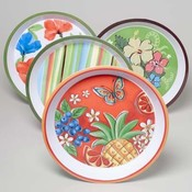Summer Design Round Serving Tray
