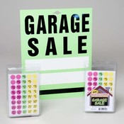 Garage Sale Shipper with Labels and Signs Wholesale Bulk