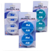 AM/PM Pill Boxes 2 Pack