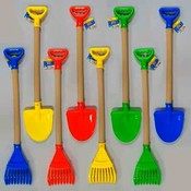 Kids Plastic Shovel 25.75 Inch/Rake 26 Inch
