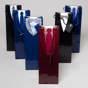 Mens Suit and Tie Wine Gift Bag