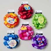2-Tone Gift Bow with Large Birthday Tag Wholesale Bulk