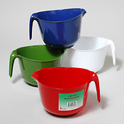 Handled Plastic Mixing Bowl