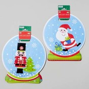 Glitter Snowglobe Shaped Gift Bag 2 Pack Wholesale Bulk
