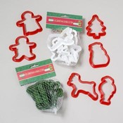 Christmas Cookie Cutters Plastic  6 Pack