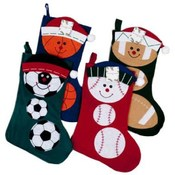 "18"" Sports Theme Christmas Stocking"