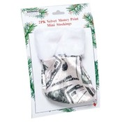 Money Print Mini Stockings 2 Pack