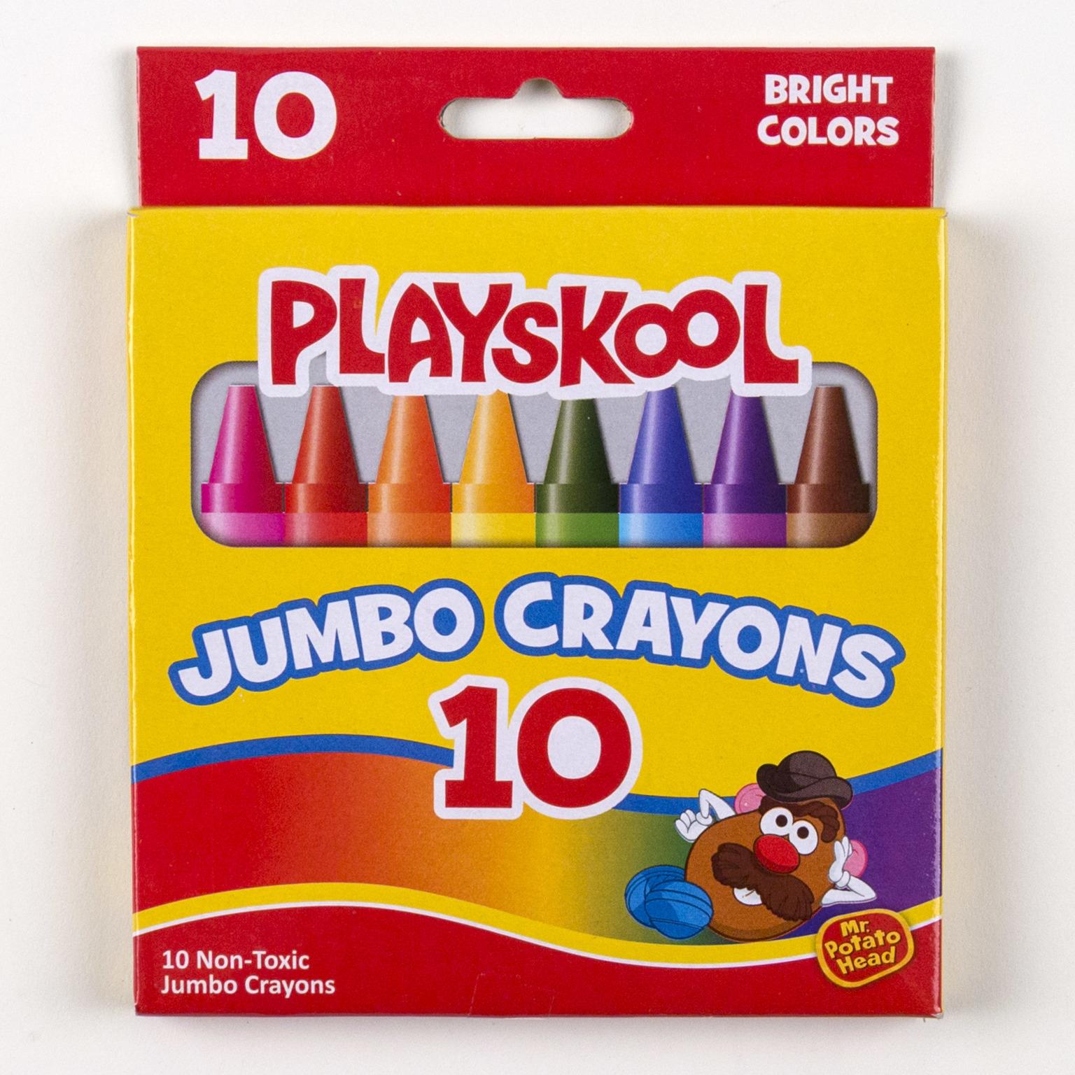 PLAYSKOOL Crayons Jumbo Peggable Box (10 count) [674478]