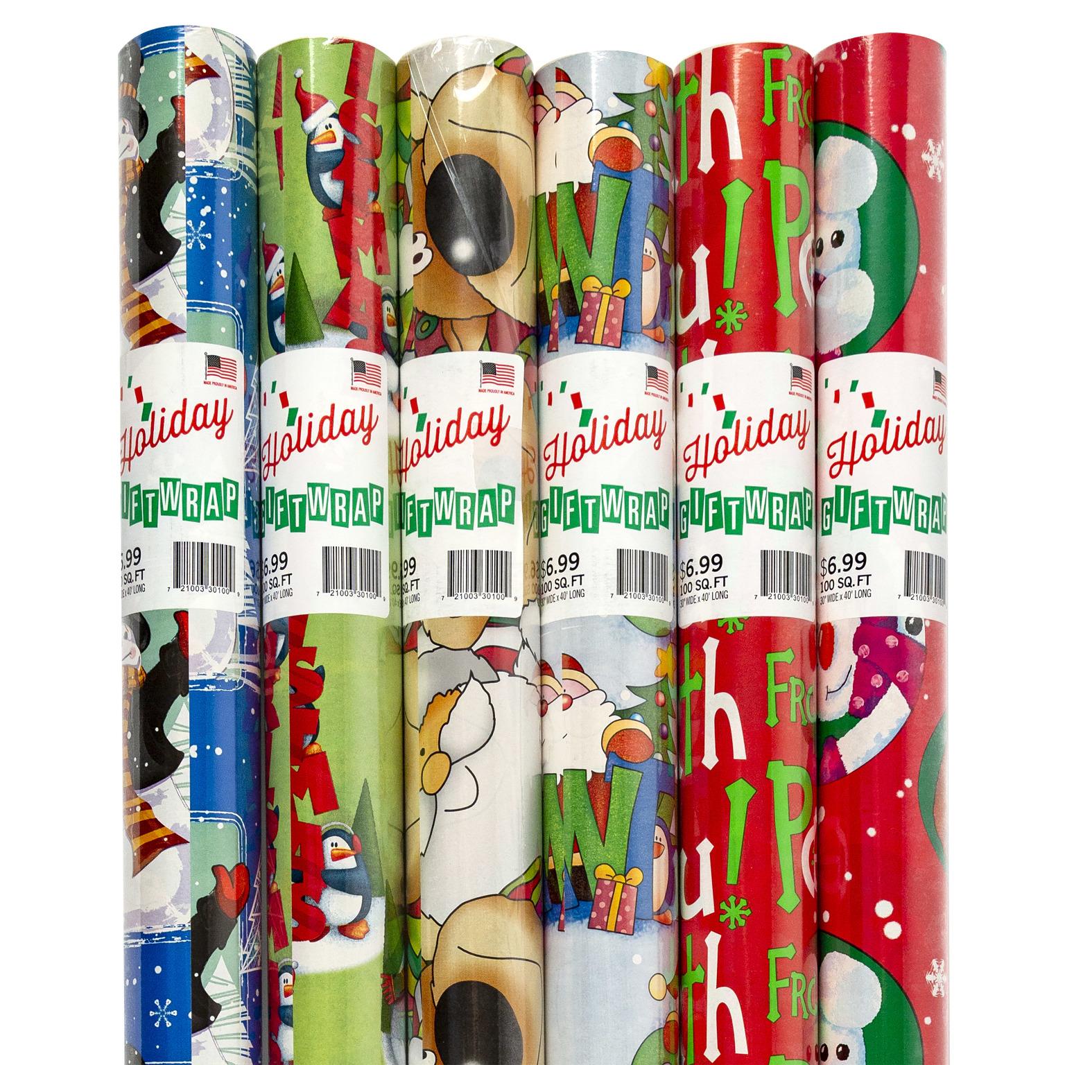 CHRISTMAS Gift Wrap 100 Sq. (323633)