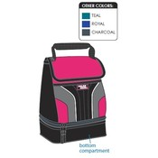 Polar Pack Lunch kit w/ bottom compartment in assorted colors