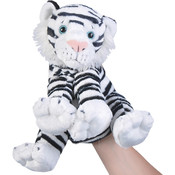 "10"" White Tiger Puppet W/Sound"