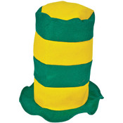 Green And Gold Stove Pipe Hat