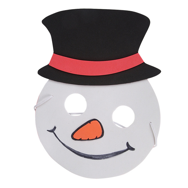 "Wholesale 7.5"" Foam Snowman Mask (SKU 574518) DollarDays"